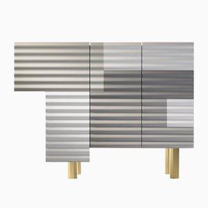 Kleiner Shanty Schrank in Grau und Weiß Winter von Doshi Levien für BD Barcelona