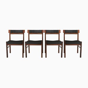 Mid-Century Danish Dining Chairs By Anders Jensen, Set of 4