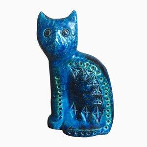 Scultura di gatto di Aldo Londi per Bitossi, anni '60