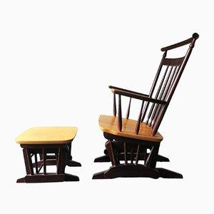 Chaise Vintage avec Repose-pied, 1960s