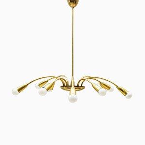 Lámpara colgante Sputnik de latón, años 60