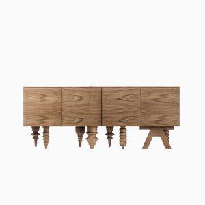 Credenza Showtime in legno di noce di Jaime Hayon per BD Barcelona