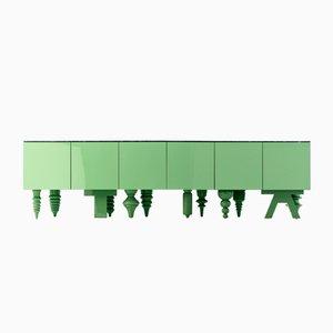 Multileg Cabinet Showtime en verde de Jaime Hayon para BD Barcelona
