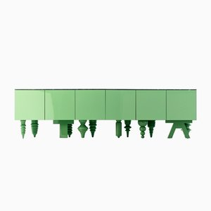 Multileg Cabinet Showtime Green by Jaime Hayon for BD Barcelona