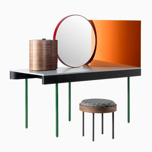 Chandlo Dressing Table & Stool by Doshi Levien for BD Barcelona