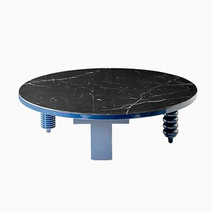 Multileg Low Table Round Marble Top Ø 80 High Gloss Finish by Jaime Hayon for BD Barcelona
