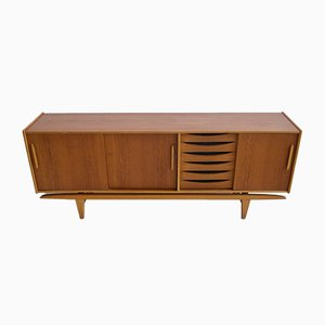 Teak Sideboard with Sliding Doors & Drawers from Ajfa Tibro, 1970s