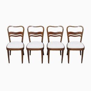 Art Deco Stühle von Thonet, 4er Set