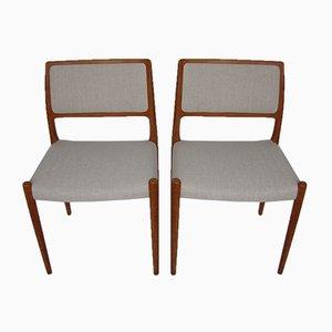 Sedie di Niels O. Møller per J.L. Møllers, anni '60, set di 2