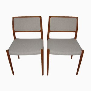 Side Chairs by Niels O. Møller for J.L. Møllers, 1960s, Set of 2