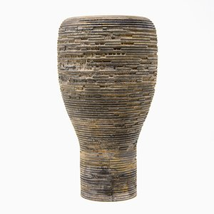 Anni S Grey Cypress Vase by Massimo Barbierato for Hands on Design