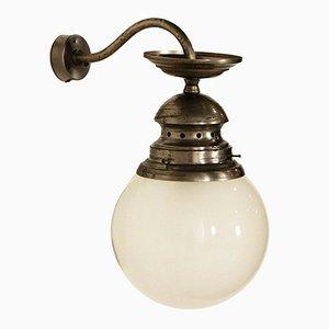 Wandlampe aus brüniertem Messing von Luigi Caccia Dominioni, 1960er