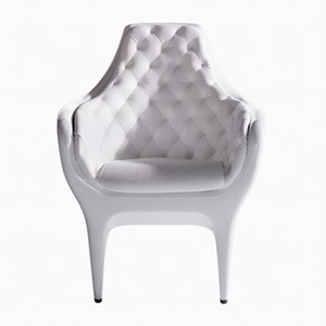 Showtime Armchair Grey Blue Capitoné by Jaime Hayon for BD Barcelona