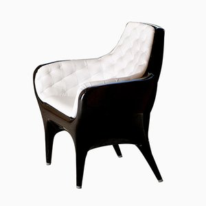 Showtime Armchair Black Capitoné by Jaime Hayon for BD Barcelona