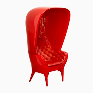Showtime Armchair & Cover Red Capitoné by Jaime Hayon for BD Barcelona