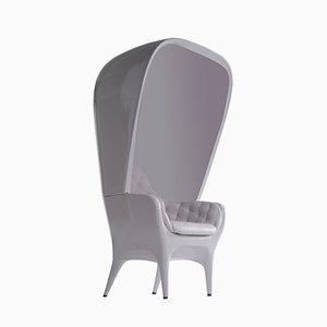 Showtime Armchair & Cover Grey Blue Capitoné by Jaime Hayon for BD Barcelona