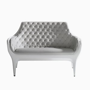 Showtime Sofa Grey Blue Capitoné by Jaime Hayon for BD Barcelona