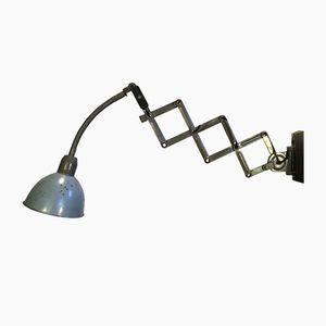 Graue industrielle Scheren Wandlampe von Elektroinstala, 1960er