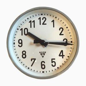 Orologio industriale grigio di Pragotron, anni '50