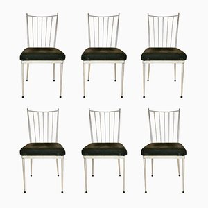 Französische Esszimmerstühle, 1950er, 6er Set