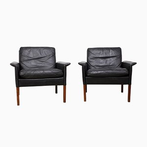 Mid-Century Danish Armchairs by Hans Olsen, Set of 2