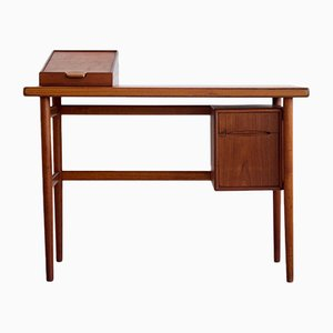 Mid-Century Danish Teak Dressing Table with Mirror