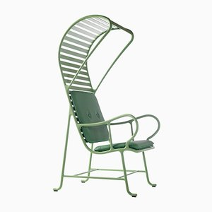Gardenias Outdoor Armchair with Pergola Green by Jaime Hayon for BD Barcelona