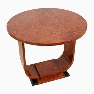 Art Deco Wurzel- Walnuss Tisch, 1920er