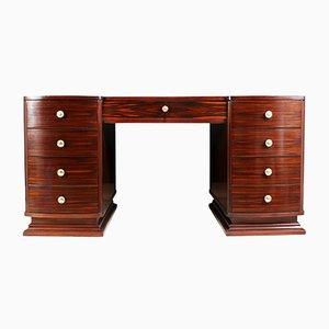Art Deco Makassar Ebenholz Schreibtisch