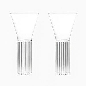 Bicchieri Sofia alto e medio di Felicia Ferrone per fferrone, 2016, set di 2