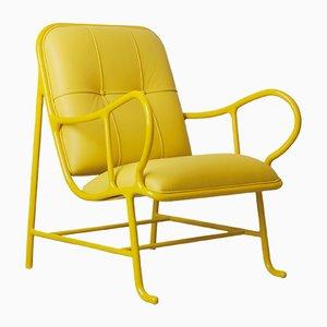 Butaca Gardenias para interiores en amarillo de Jaime Hayon para BD Barcelona