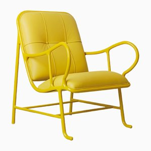 Gardenias Indoor Armchair Yellow by Jaime Hayon for BD Barcelona