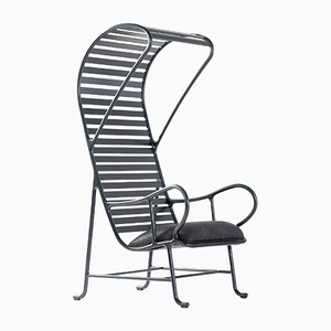 Gardenias Indoor Armchair with Pergola Black by Jaime Hayon for BD Barcelona