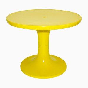 Table Basse en Plastique Jaune, 1960s