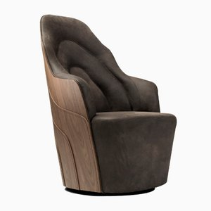 Couture Armchair Varnished Walnut by Färg & Blanche for BD Barcelona