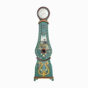 Antique Swedish Hand-Painted Mora Clock