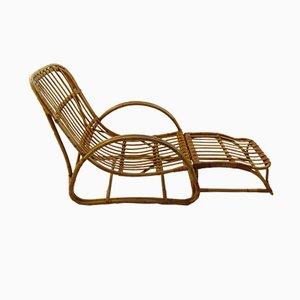 Chaise en Jonc avec Repose-pieds de Dryad, 1960s