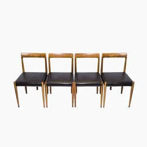 Mid-Century German Dining Chairs from Lübke, 1960s, Set of 4
