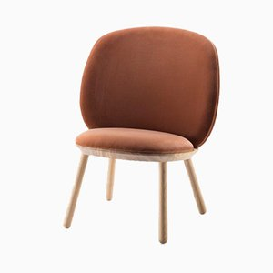 Chaise Basse Naïve Terracotta par etc.etc. pour Emko