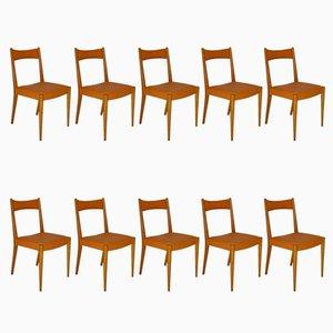 Chaises de Salle à Manger par Anna Lülja Praun pour Wiesner-Hager, 1953, Set de 10
