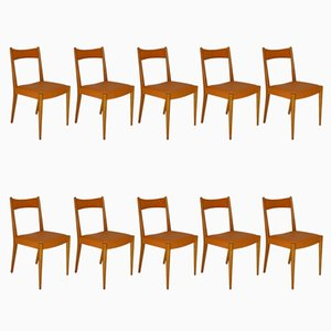 Dining Chairs by Anna Lülja Praun for Wiesner-Hager, 1953, Set of 10