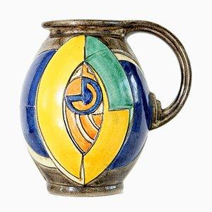 Ánfora o jarra de Karl Gellings para Kennemer Töpferei Velsen, años 60