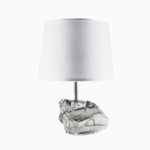 French Crystal Rock Table Lamp, 1930s