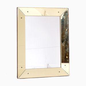 Yellow Murano Glass Mirror, 1950s