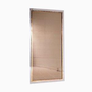 Zweifarbiger Spiegel von Belgo Chrom, 1970er