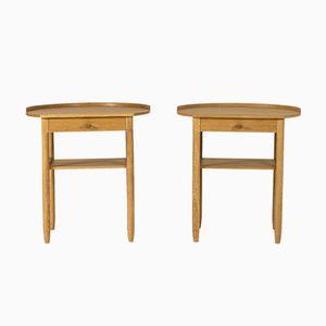 Oak Bedside Tables by Sven Engström & Gunnar Myrstrand for Bodafors, 1950s