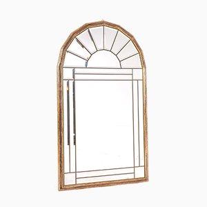Specchio Pagode in legno ed ottone, anni '70