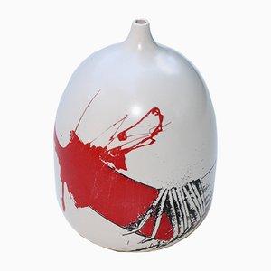 Vaso in ceramica di Emilio Scanavino, anni '70