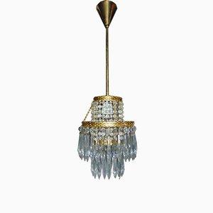 Vintage Jablonecu Crystal Pendant Lamp