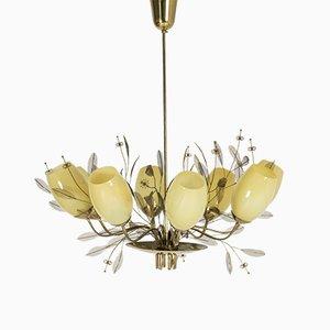 Lámpara de araña Bridal Bouquet vintage grande de Paavo Tynell para Taito Oy
